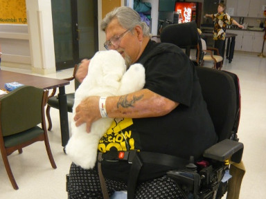 PARO for a veteran with dementia and PTSD at the US Veterans Affairs Hospital